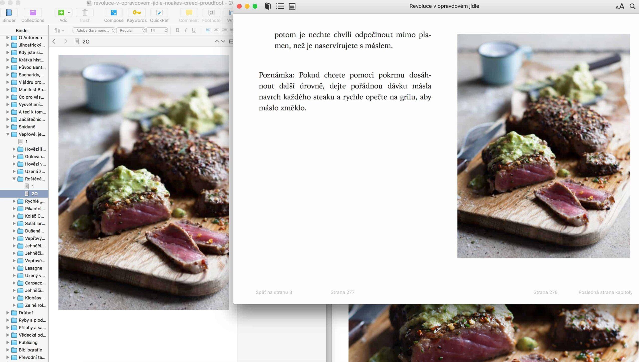 Príprave e-knihy Revoluce v opravdovém jídle